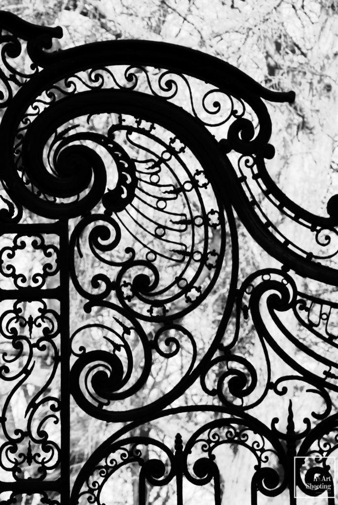 Détail portail art déco