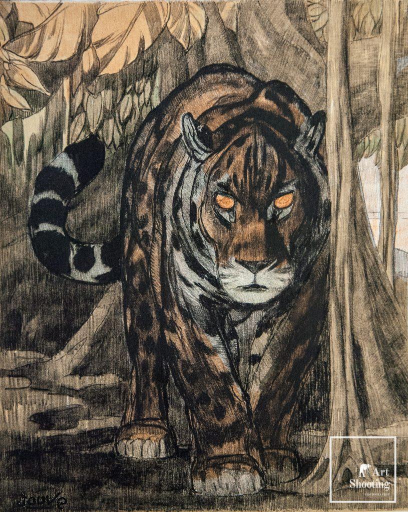 Jouve tigre Art Nouveau