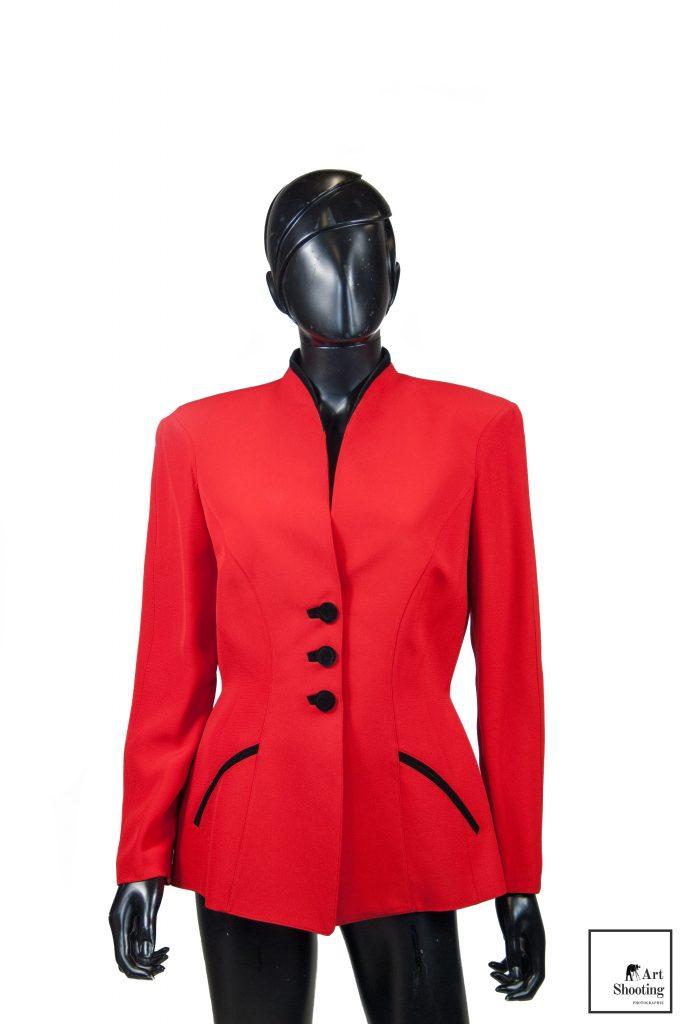Veste Thierry Mugler rouge et noir