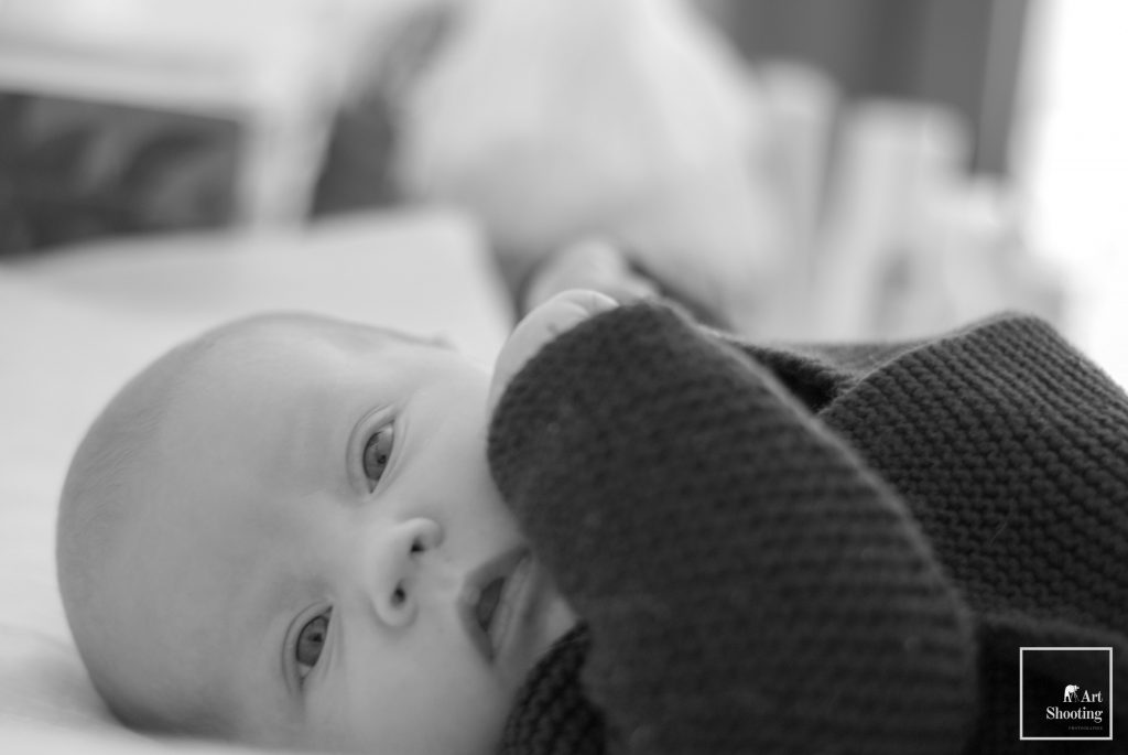 Bébé noir et blancx