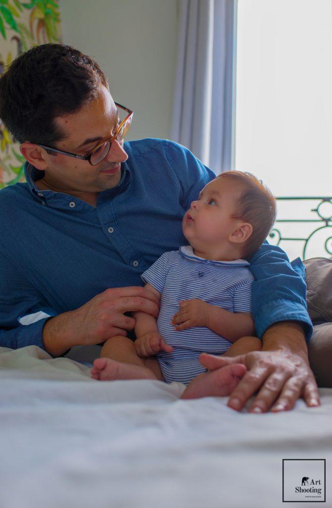 Père et fils regard